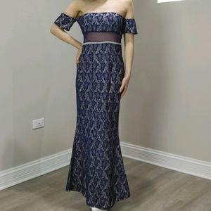 Prom dress custom royal blue lace JANE.X Bethany